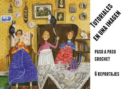 6 Tutoriales con pasos graficos de crochet