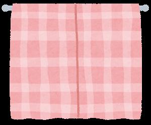 閉じたカーテンのイラスト