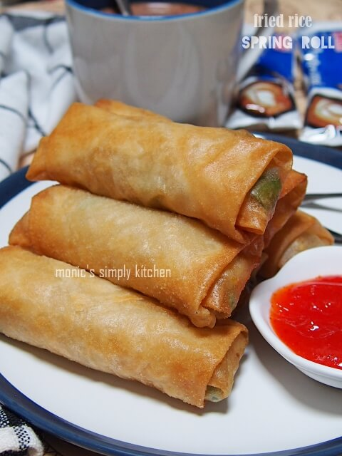 fried rice spring roll