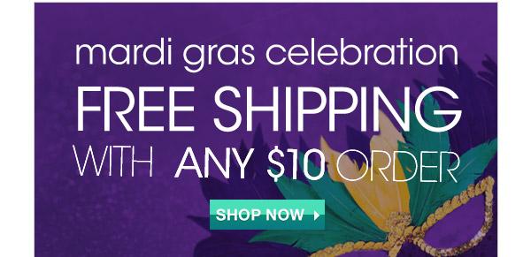 Avon Celebrating Mardi Gras with Free Shipping