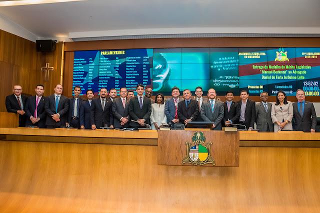 Daniel Leite, membro efetivo do TRE-MA é condecorado pelo Poder Legislativo do MA