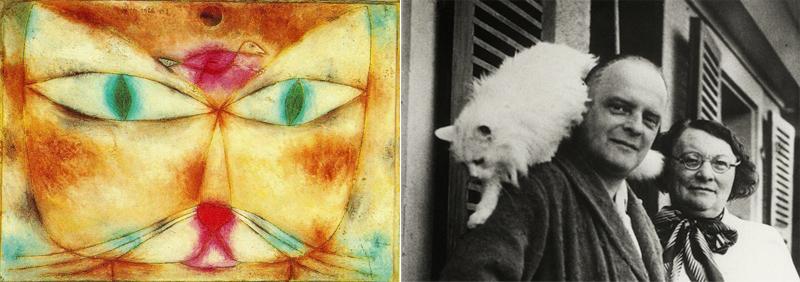 10 artistas con sus gatos