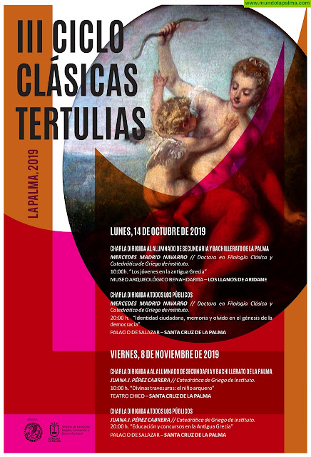 El Cabildo organiza el III Ciclo de Clásicas Tertulia de La Palma para difundir el mundo grecolatino