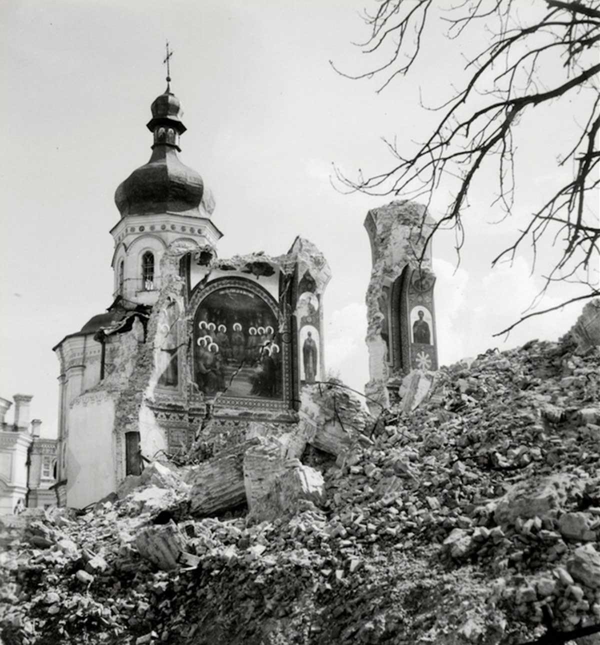 Kiev fue fuertemente bombardeada durante la invasión.