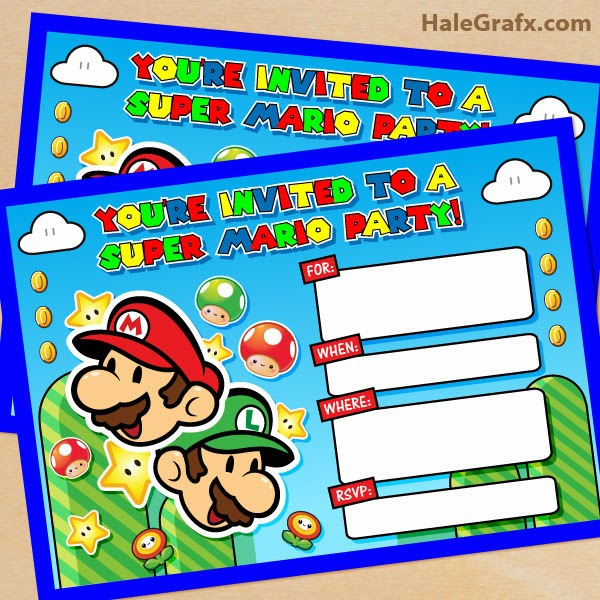 Kit De Super Mario Bros Para Imprimir Gratis Ideas Y