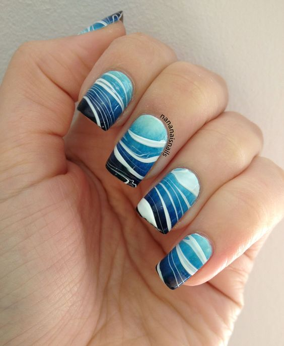 All The Secrets Of Water Marble Nail Art Omg Love Beauty