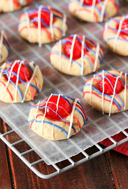4th of July Cherry Almond Cookies Image