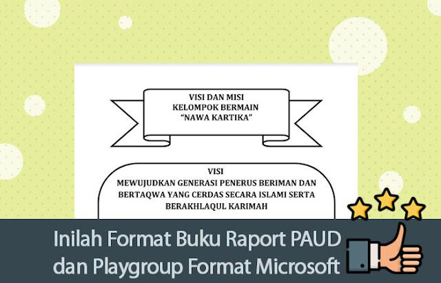 Inilah Format Buku Raport PAUD dan Playgroup
