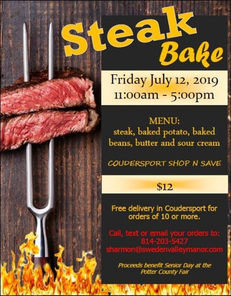 7-12 Steak Bake, Coudersport Shop 'n Save