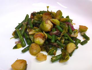 Sautéed Green Beans and Brussels Sprouts