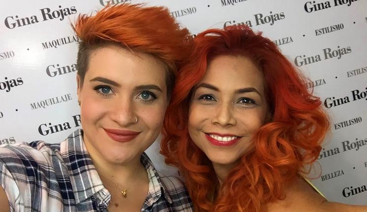 Soy gina Rojas y Spadomoda cabellos color naranja