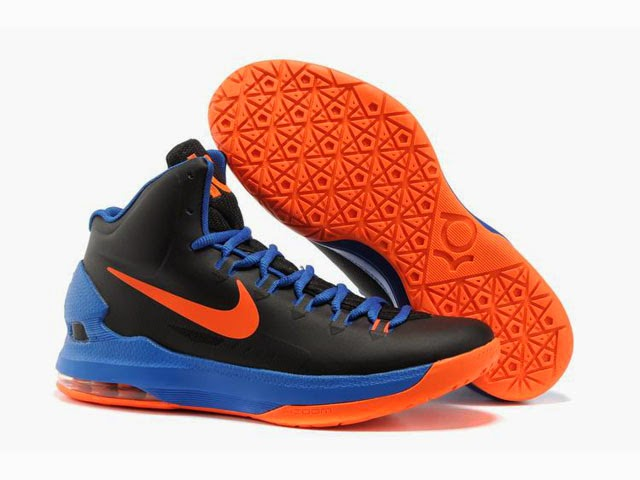 bbb0ca4e5f00 Nike KD 5 High White Black Red Basketball Shoes kd 5 high 354  NikeZoomKevinDurantKDVBlackBlueOrange