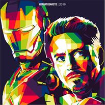Poster WPAP Film Iron Man