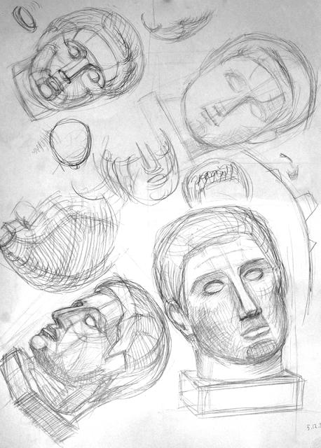 рисование головы в различных ракурсах