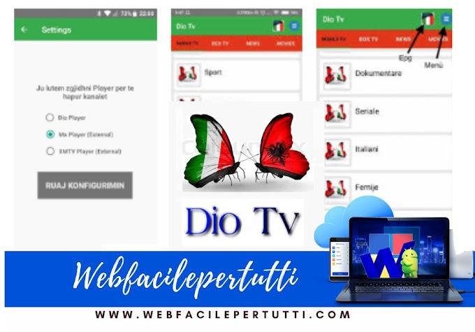 DIO TV Apk - App IPTV Nuova versione aggiornata disponibile al download