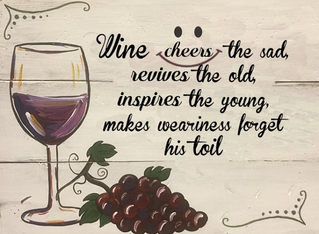 Wine Quote - Wine brings cheers
