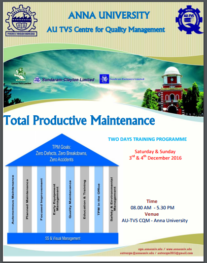 total productivity maintenance project Discover how using a cmms solution to implement total productive maintenance methods can reduce costly machine downtime and improve efficiency.