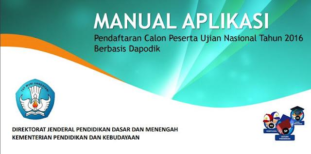 gambar Manual Aplikasi Pendaftaran Calon Peserta UN Tahun 2016 Berbasis Dapodik