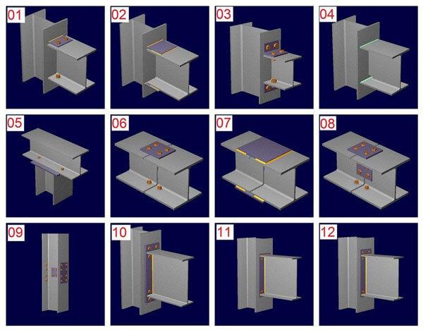 الوصلات المعدنية ذات المسامير في الإنشاءات المعدنية