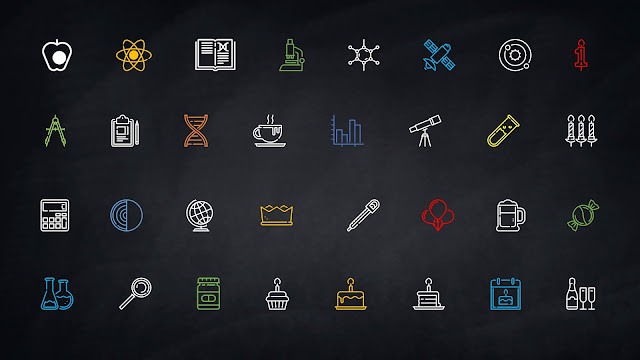 Fully Editable Linear Colored Icon Set for Free PowerPoint Template Slide 3