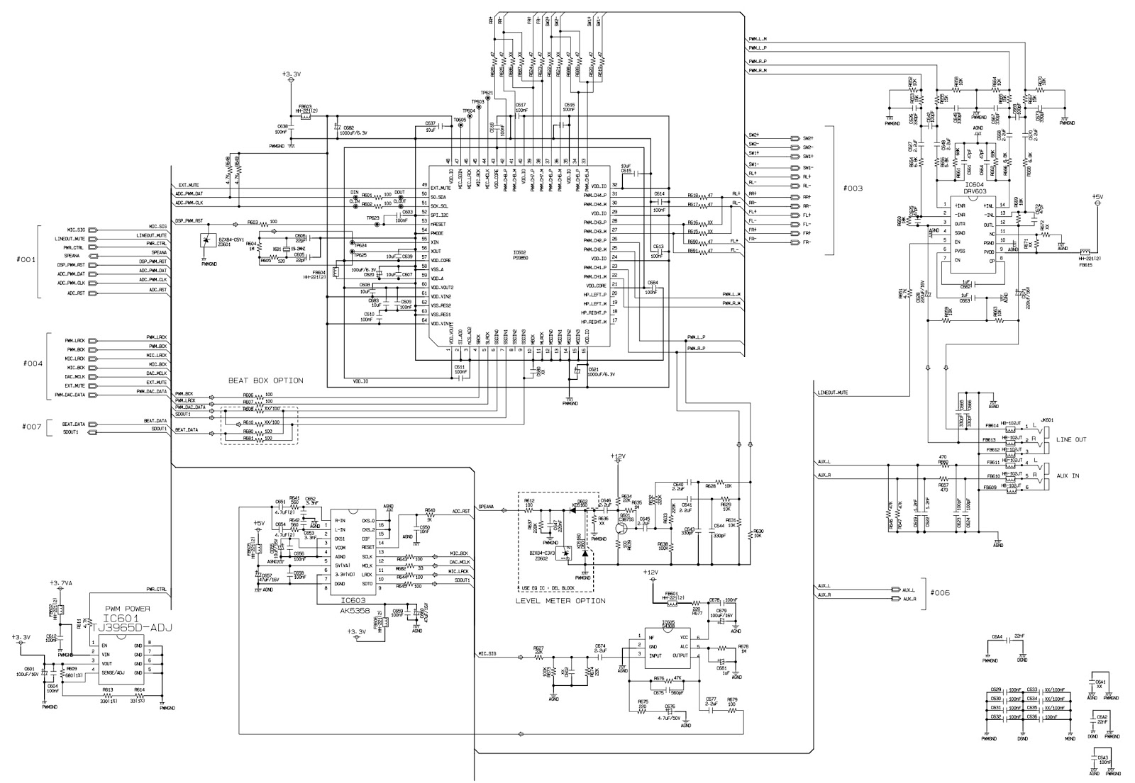 lg cm6520 mini hi-fi system  u2013 schematic  u2013 power supply  rf servo  dsp