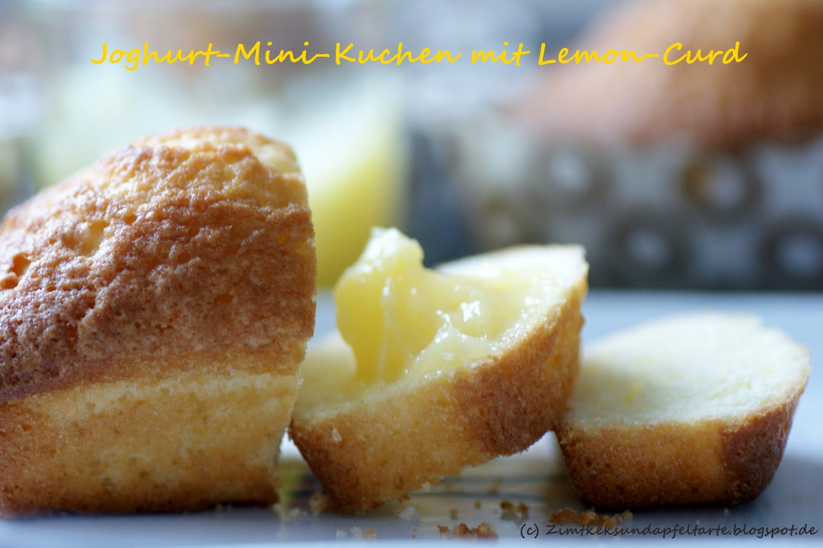 zimtkeks und apfeltarte joghurt mini kuchen mit lemon curd. Black Bedroom Furniture Sets. Home Design Ideas