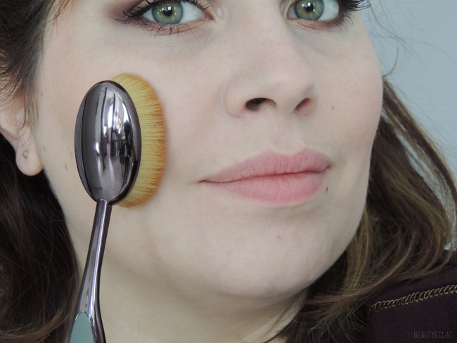 revue avis test artis brush pinceau elite smoke oval 7 demonstration application