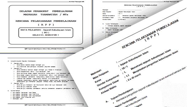 Perangkat Pembelajaran SKI (Sejarah Kebudayaan Islam) MTs Berkarakter Kelas 7 8 9