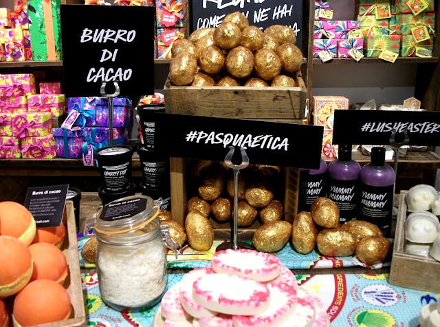 Lush Cosmetics, Easter limited edition products and fair-trade cocoa butter