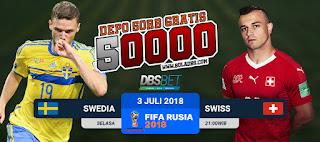 swedia vs swiss piala dunia 3 juli 2018