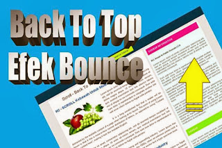 Membuat tombol back to top efek bounce game