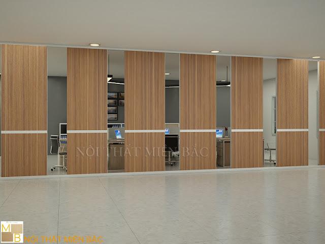 Với kiểu dáng tinh tế cùng đường vân gỗ bắt mắt mà dòng vách ngăn di động này còn tạo nên không gian làm việc thẩm mỹ cao