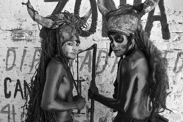 diablos aceitados en carnaval de san martín tilcajete oaxaca