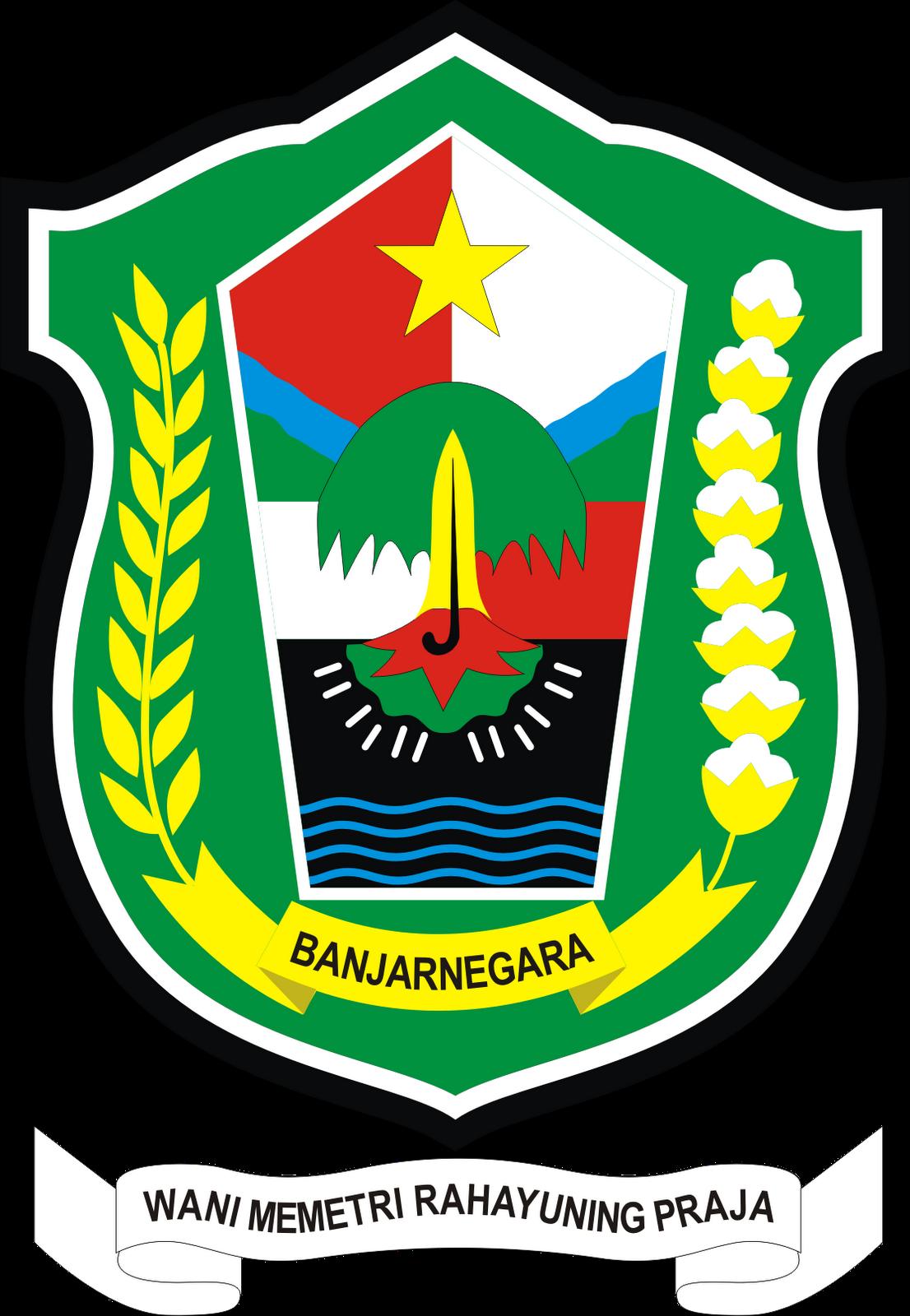 Logo Kabupaten Banjarnegara Provinsi Jawa Tengah Logo Lambang Indonesia