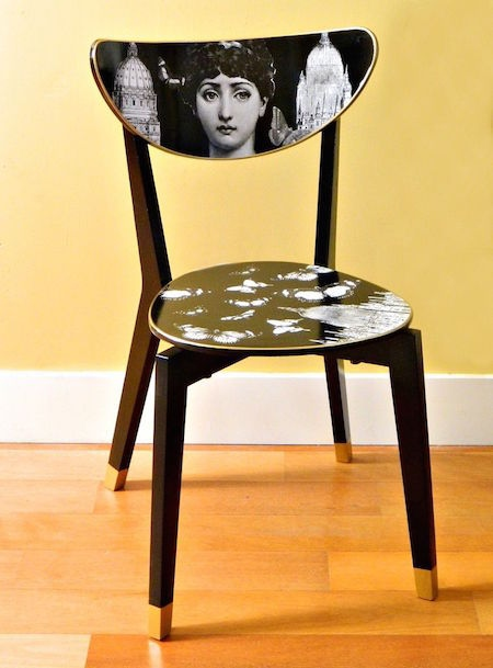 IKEA Dining Chair hack Into a Fornasetti Work of Art
