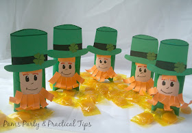 Leprechaun Treat Boxes made with cardboard tubes