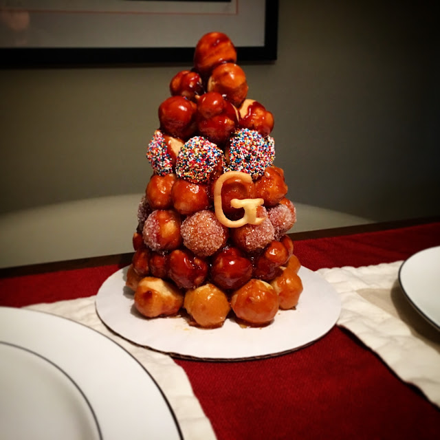 Displayed Croquembouche