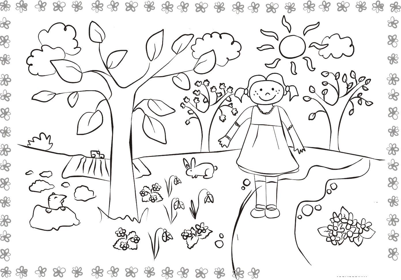 Раскраски деткам: Все раскраски о весне