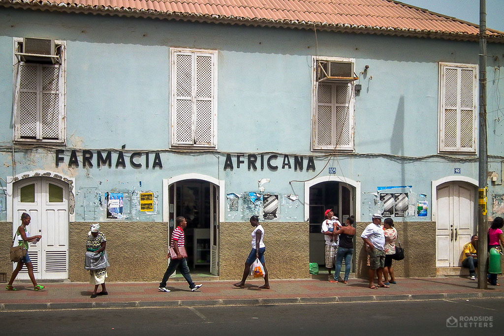 Pharmacy in the capital city of Praia in Cape Verde