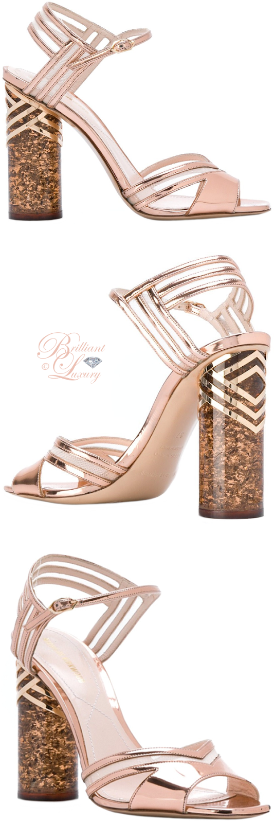 Brilliant Luxury ♦ Nicolas Kirkwood Zaha sandals in rose gold