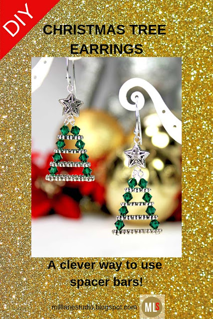DIY Inspiration Sheet for Evergreen Christmas Tree Earrings Tutorial