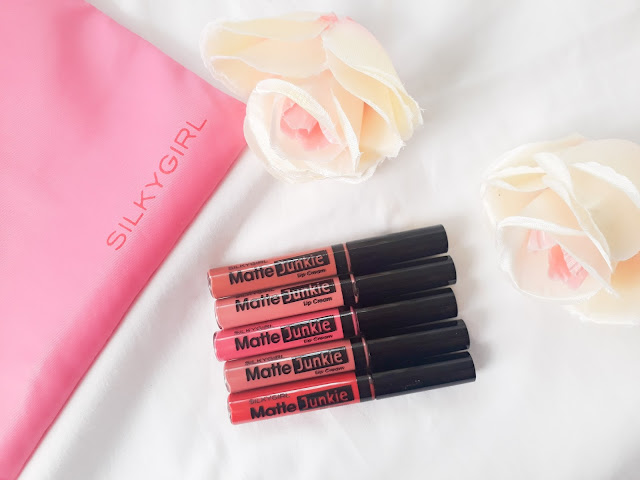 Silkygirl Cosmetics Matte Junkie Lip Cream - Swatches + Review