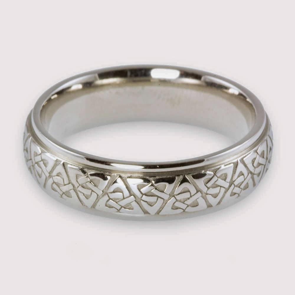 white gold celtic wedding rings