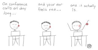Ear feels red