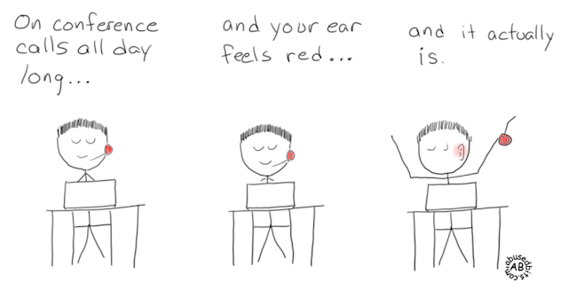 Ear feels red