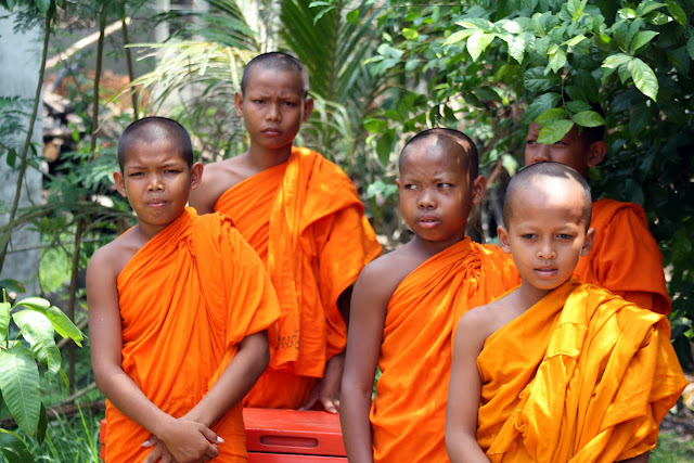 Des novices de Wat Kraya. Photo Christophe Gargiulo - CGF Foundation