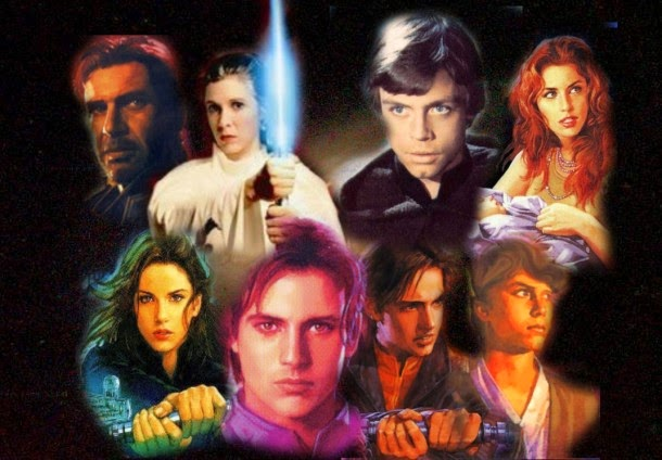 From Left Jaina Solo Ben Skywalker Tenel Ka And Jacen Fondos De