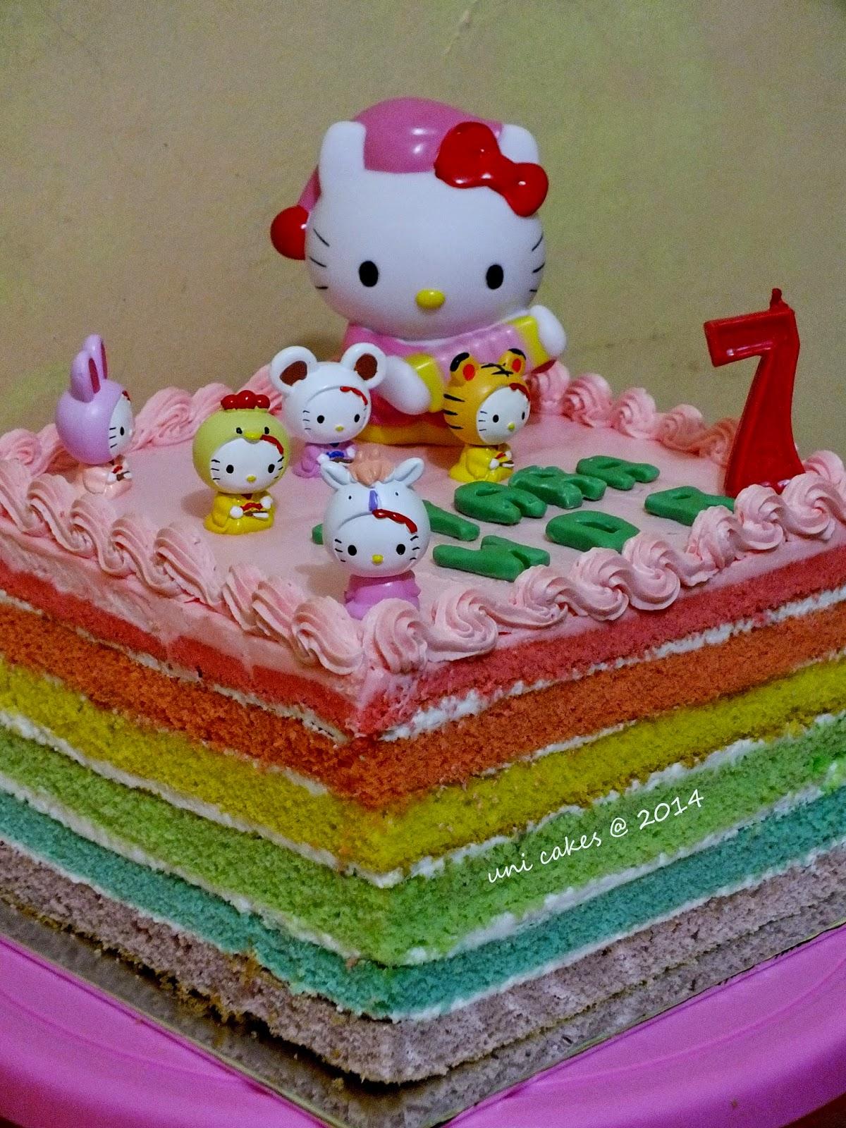 Dapur Cokelat Rainbow Cake Harga