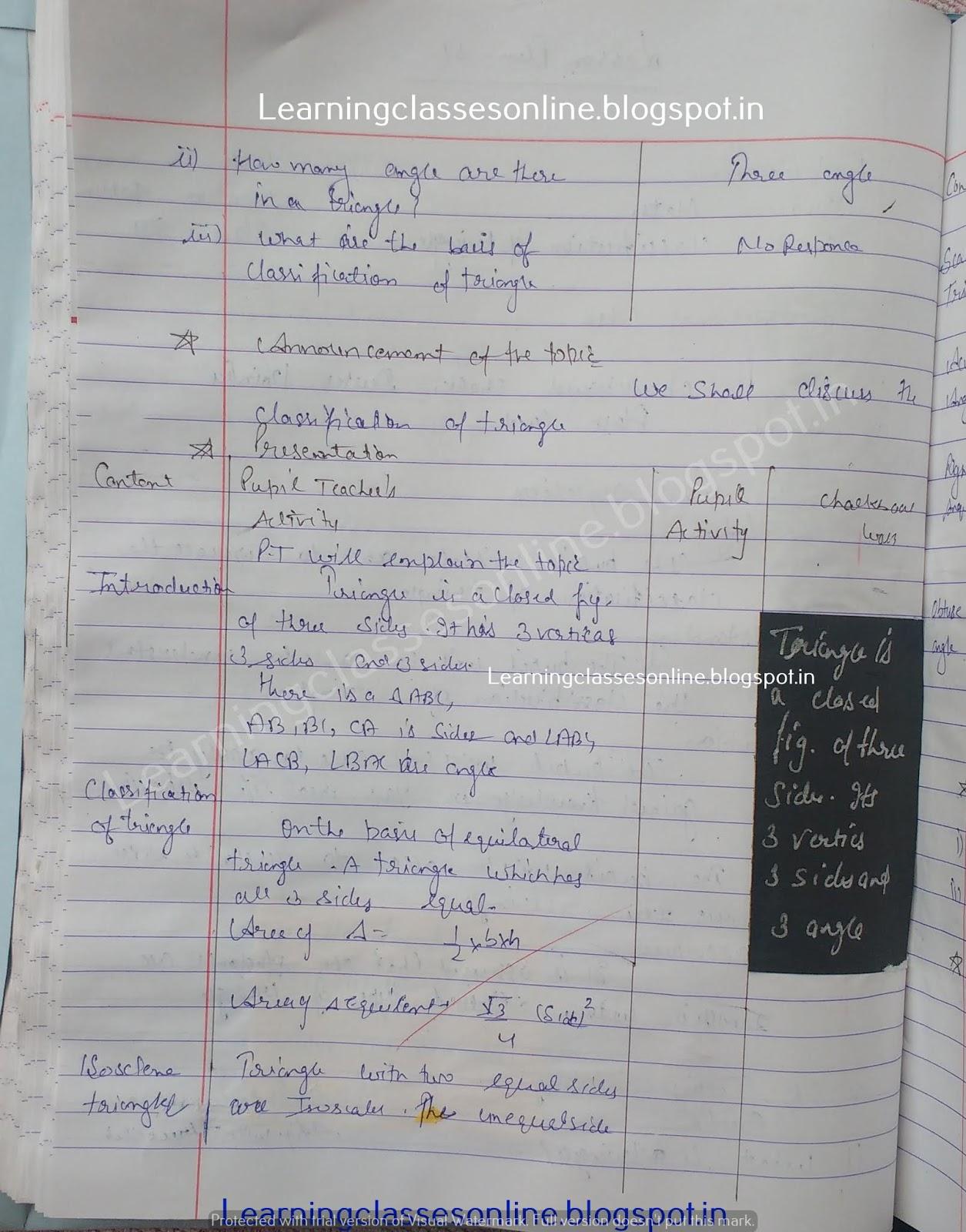 Lesson Plan For Maths Class 9 Cbse,