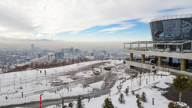 View over almaty in winter